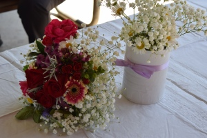 My bouquet and table arrangements